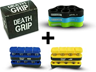 Hand Grip Strengthener Kit - Finger Resistance Bands & Forearm Trainer - Great for Rock Climbing, Strength, Therapy, Arthritis, Carpal Tunnel, Guitar, Tennis Elbow, Golfers Elbow, Boxing