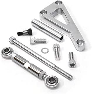 Alternator Bracket Kit, Long Water Pump Lwp Aluminum Alternator Mounting Kit Polished for Chevy SBC 350
