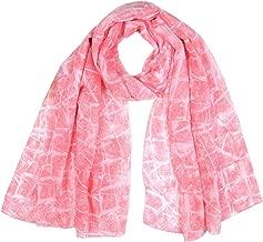 TIFENNY Wave Point Print Chiffon Scarf for Women Ladies Winter Scarf Wrap Shawls Headband Soft Long Scarf
