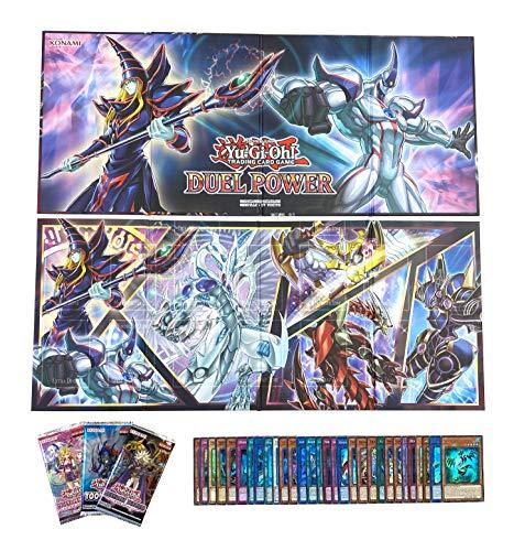30 Holo Karten + 2 Duel Power Spielbretter (Spielfeld/Spielmatte) + 1 Booster unserer Wahl - Yu-Gi-Oh! - deutsch - mit GECO Versandschutz