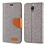 Wiko Robby Case, Oxford Leather Wallet Case with Soft TPU