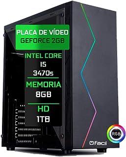 Pc Gamer Fácil Intel Core I5 3470S 8Gb DDR3 GeForce GT 730 2Gb 128 bits HD 1 TB