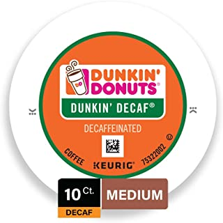 Dunkin' Donuts Decaf Coffee Kcups, 10 Count