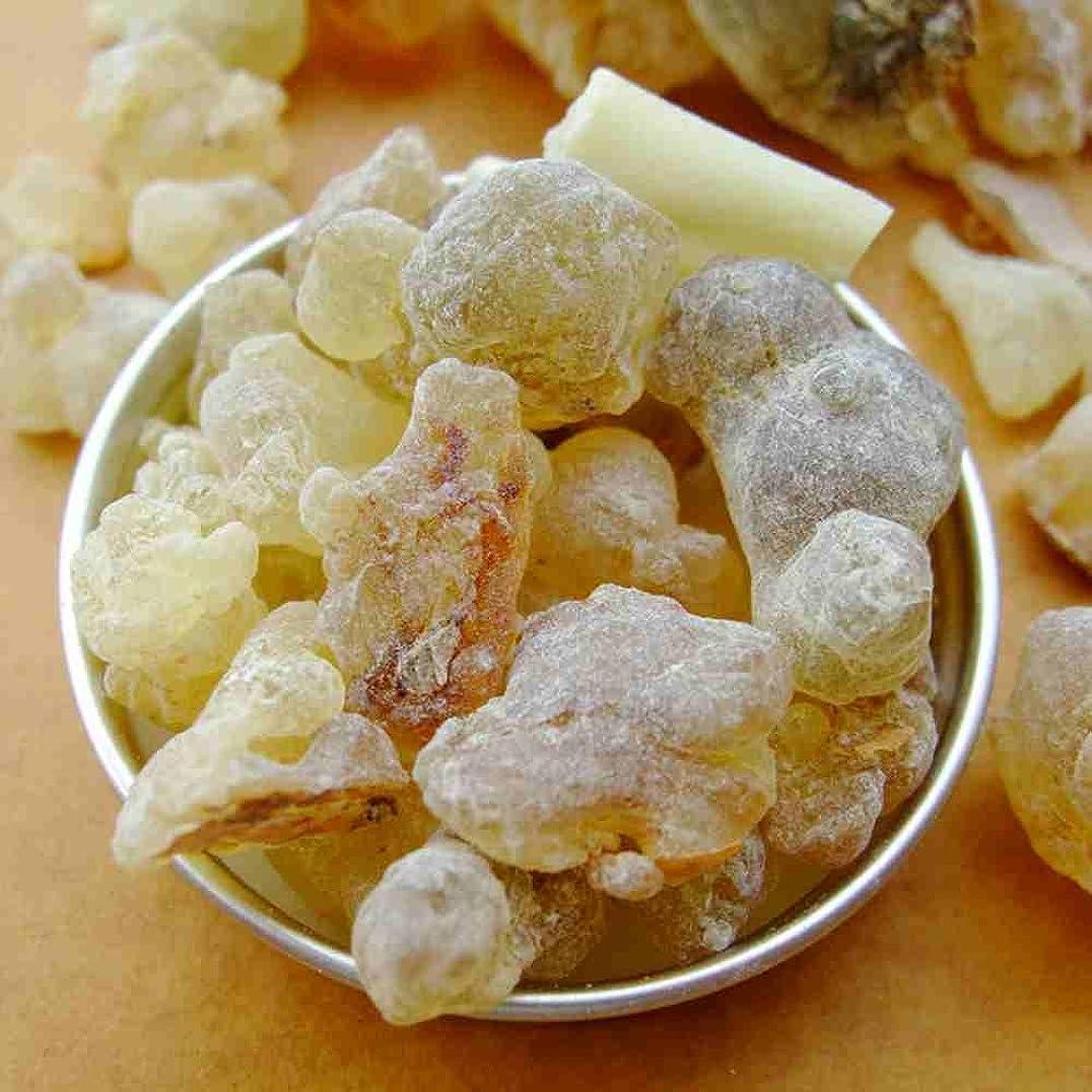 縞模様のラウンジ陰気フランキンセンス 100%純オーガニック乳香樹脂/塊 オマーン Oman Frankincense 50 gram