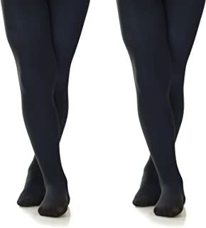 a9fab01cd1ec6 Silky Toes Girls' Microfiber School Winter Opaque Footed Tights (2 Pairs)
