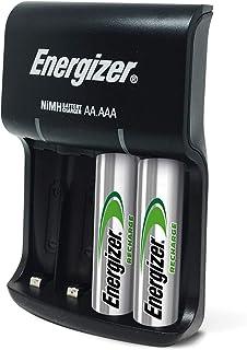 Energizer Ladegerät Batterien, Recharge Base, für Wiederaufladbare Batterien der Größen AA und AAA