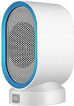 BEIAKE Mini Calentadores Eléctricos del Ventilador Rápido Calentamiento del Cuerpo De Un Interruptor De Llave Encimera Inicio Potencia Sitio Más Cálido para El Invierno 400W 220V,Azul