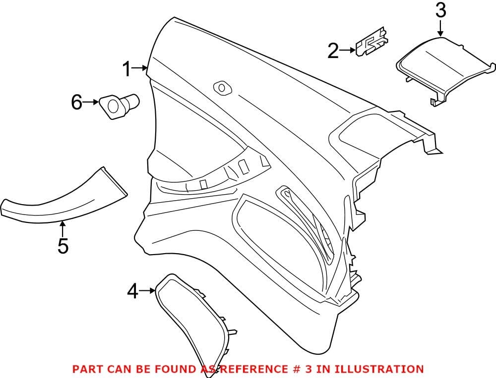 Genuine OEM Rear Driver Left New products Rare world's highest quality popular Interior Quarter Rearward Pan Upper