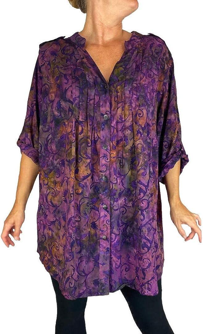 Women's Plus Size Purple Haze Katherine Blouse L XL 0X 1X 2X 3X 4X 5X 6X
