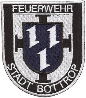 Patch Feuerwehr Berufsfeuerwehr Abzeichen Stadt Bottrop Helm Jacken Aufnäher