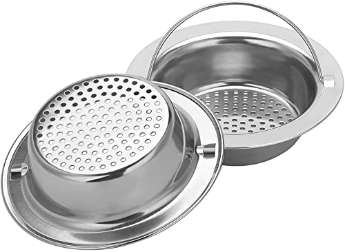 "2PCS Upgrade Stainless-Steel Kitchen Sink Strainer (Hand-Held), Premium Drain Filter Strainer, Large Wide Rim 4.33"" D..."