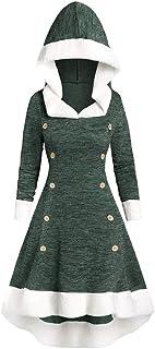 Allence Vintage damesjurk winter dames midi jurk kant snoeren solide jurk capuchonpullover top hoodies capuchonpullover me...
