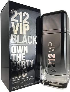 212 Vip Black for Men by Carolina Herrera 3.4 oz Eau De Parfum Spray