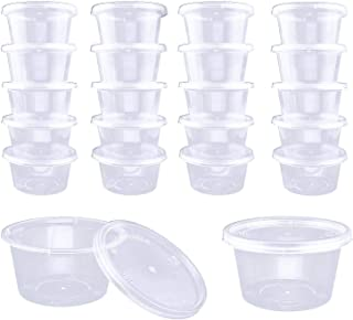 DOMIRE 4OZ Slime Containers with Lids Clear Storage Container for Slime & Foam Ball,40Pack