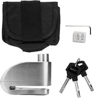 Motorcycle Security Lock, Motorcycle Bike Waterproof Wheel Brake Disc Mechanical Alarm Security Lock (Silver)