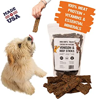 Dog Chits Venison and Beef Sticks | Dog or Puppy Treats | Easy to Chew | Made in USA | Great for Training | for Large and Small Dogs | All Natural Treats | Irresistible Meaty Flavor | 12 oz.