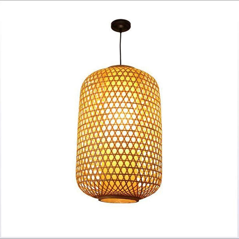 Lustre nordique simple en forme de lustre, lampe suspendue en rougein en osier de bricolage tropical au sud-est asiatique, restaurant bar chambre salon lustre (taille   25  40CM)