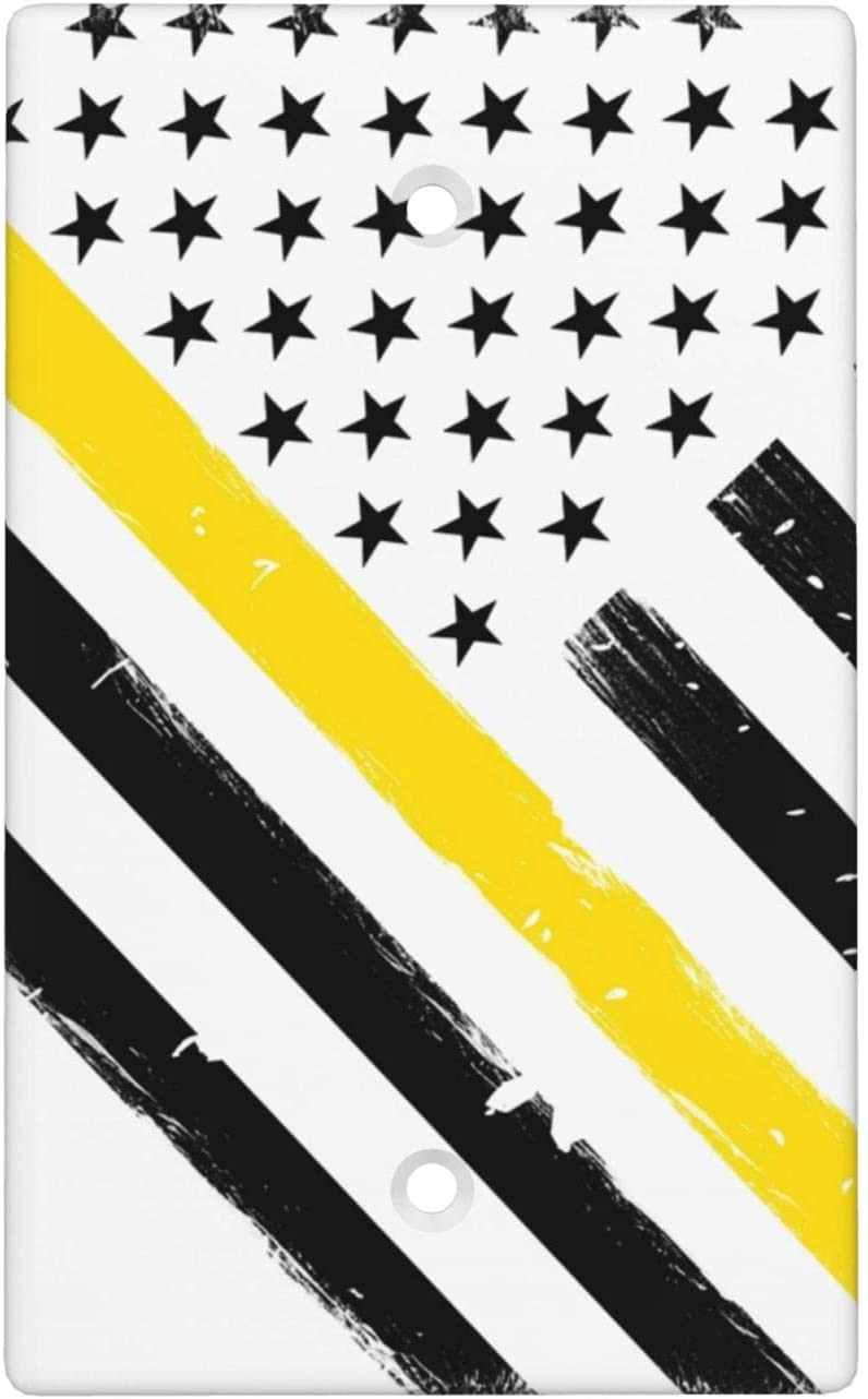 Thin Gold Line Ranking integrated 1st place 911 Dispatcher American Cover Flag Blank Pla Animer and price revision Wall