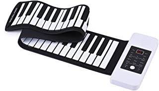Lixada Portable Silicon 61 Keys Hand Roll Up Piano Electronic USB Keyd with Built-in Li-ion Battery and Loud Speaker