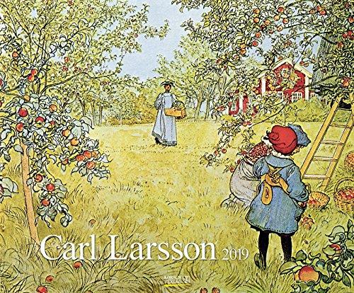 Carl Larsson 202719 2019: Kunstkalender mit Werken des Künstlers Carl Larsson. Großer Wandkalender im Jugendstil. Querformat: 55 x 45,5 cm, Foliendeckblatt