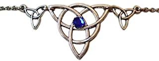 Celtic Triple Triquetra Trinity Headpiece Dark Blue