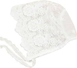 White Lace Baby Bonnet Toddler Bonnets Infant Newborn Girl Cap Summer Hat