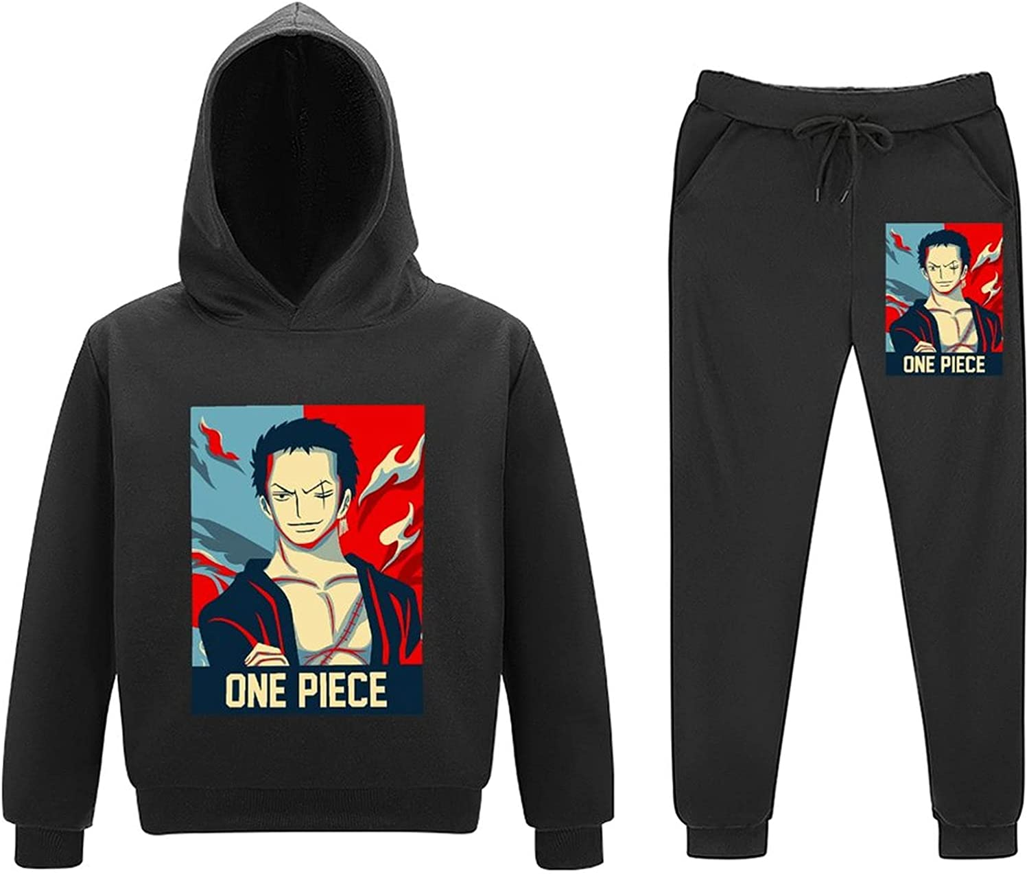 5-11Y Roro-noa 5% OFF Zoro Kids Toddler Arlington Mall Piece Pull Sweatsuits 2 Outfits