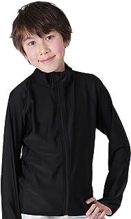 KICKS(キックス) ラッシュガード キッズ フードなし フルジップ 全20色柄 90~150サイズ 長袖 UVカット UPF50 +