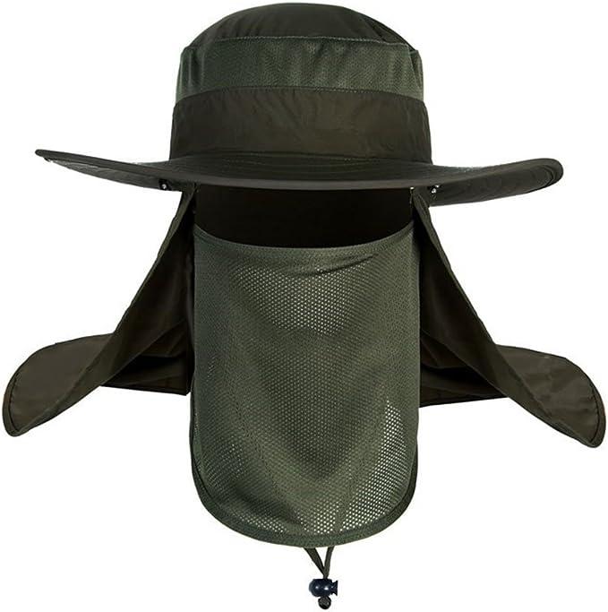 TSHOME Outdoor Casquette Anti-moustiques avec Protection Contre Les UV et la Nuque 360 /°