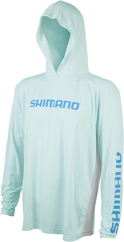 SHIMANO half Long Sleeve Hooded Tee Fishing Classic Tech Gear