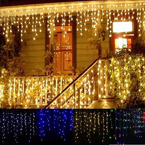 Lichtketting, lichtring, lichtstrip slinger Kerstmis led gordijn ijspegels snoer lichtketting 5 m 96 LEDs doorhangen 0,3 - 0,5 m outdoor kerstfeest leidde decoratie