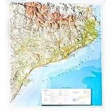 Mapa en relieve de Cataluña: Escala 1:800.000