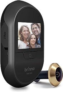 Brinno SHC500 Front Door PeepHole Security Camera, Black, 12mm,1