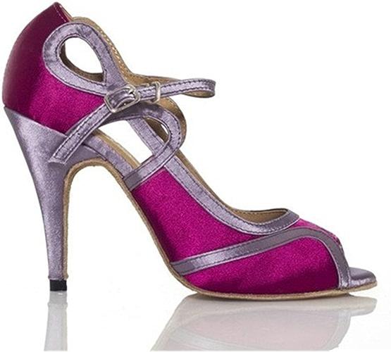LEIT YFF Cadeaux Femmes Dance Danse Danse Latine Dance Tango Chaussures 8.5cm,violet,33