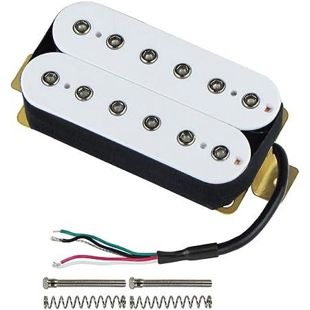 Amazon.com: FLEOR Bridge Pickup Double Coil Humbucker Pickups for Electric Guitar  Pickup-White: Musical InstrumentsAmazon.com