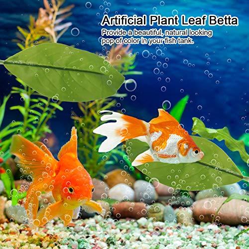 plastic Aquariums Leaves Artificial Betta Leaf, Fish Rest Bed, Fish tank Supply Leaves 3.5x1.6in Artificial for Fish tank Aquaridum