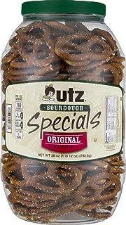 Utz Quality Foods Pretzel Barrels (Original Sourdough Special 28 oz, 2 Barrels)