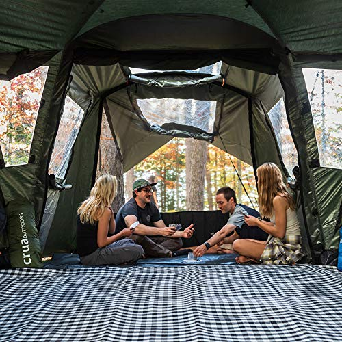 Crua Outdoors Cottage Premium Quality 6 Person Insulated Family Tent Climate Control, All Year Round. - Two Large All-Season Double bedrooms