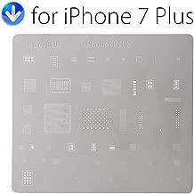 Phone Bga Reballing Stencil Template For iPhone7 7Plus 6S 6SPlus 6 6Plus 5S 5 Cpu Font Wifi Audio Power Nand Ic Soldering Repair Plant Tin Steel Net Motherboard Chip (7S PLUS)