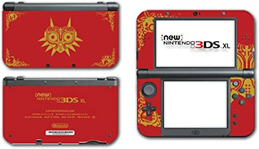 Legend of Zelda Link Majora's Mask Special Edition Red Gold Video Game Vinyl Decal Skin Sticker Cover for the New Nintendo 3DS XL LL 2015 System Console