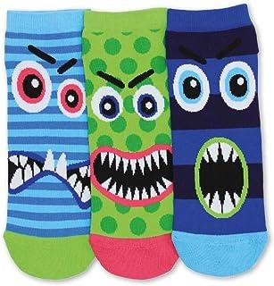 Trainer Socks for Men : Set of 3 Liner Monster Stressheads Oddsocks for Men, Multicoloured, UK 6-11