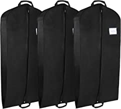 3 x Gusseted Polyester Garment Bag, Breathable Suit Carrier Covers Bag for Traveling and Closet Organization - 44