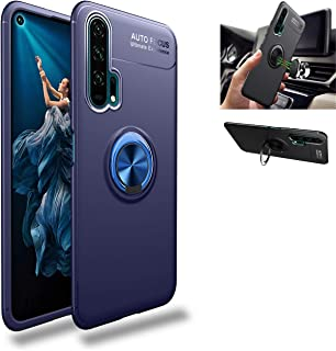 Honor 20 Pro Case,360° Rotating Ring Kickstand Protective Case,Silicone Soft TPU Shockproof Protection Thin Cover Compatible with [Magnetic Car Mount] for Huawei Honor 20 Pro Case Blue/blue 1