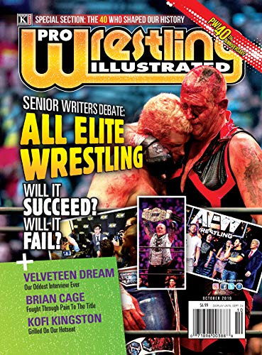 Pro Wrestling Illustrated: October 2019-PWI 40th Anniversary; Cody Rhodes, Dustin Rhodes, Kofi Kingston, Bret Hart, Tony Khan, Young Bucks, Kenny Omega, Brandi Rhodes, Ratings, Velveteen Dream