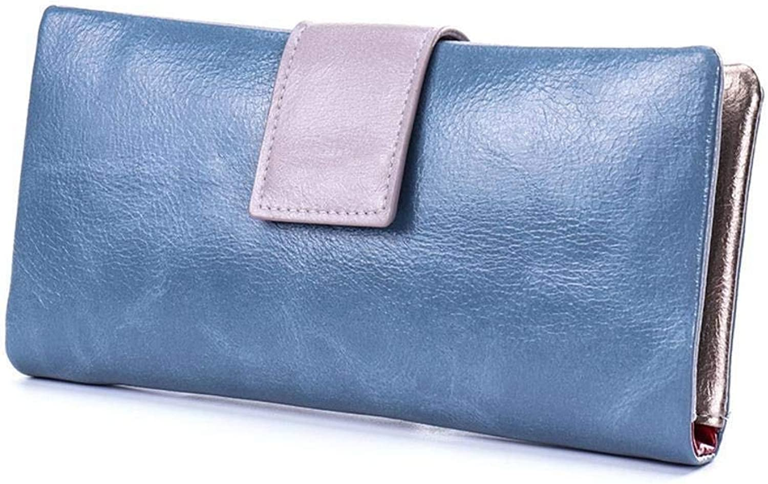 Girls Purse Women's Wallet Lady Purse Multifunctional Mobile Phone Bag Lady MultiCard Small Change Wrap Lady Hand Bag (color   B)
