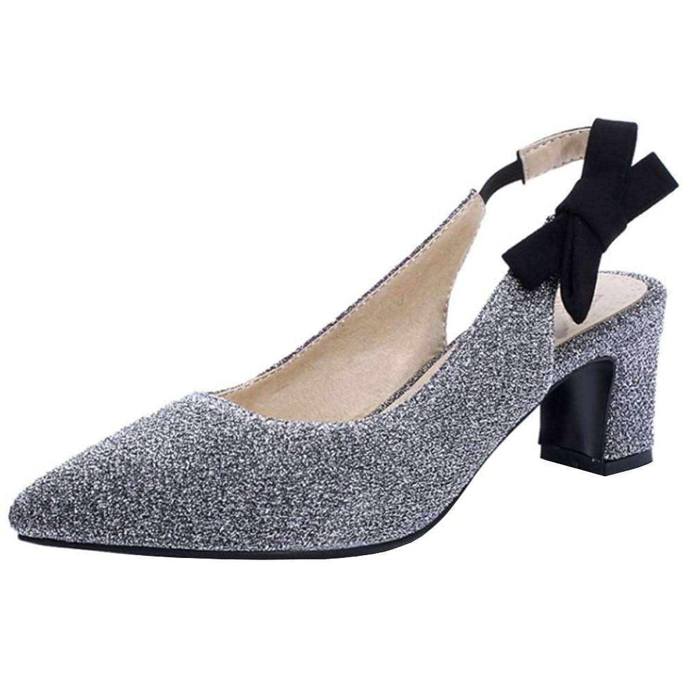 [Melady] レディース ファッション パンプス ミッドヒール スリングバック パーティー 靴