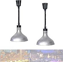 WOERD Lampes Chauffantes pour Buffet, Lampe Chauffe-Plats pour Aliments, Rétractable Lampe Chauffante pour Steak, Hauteur ...