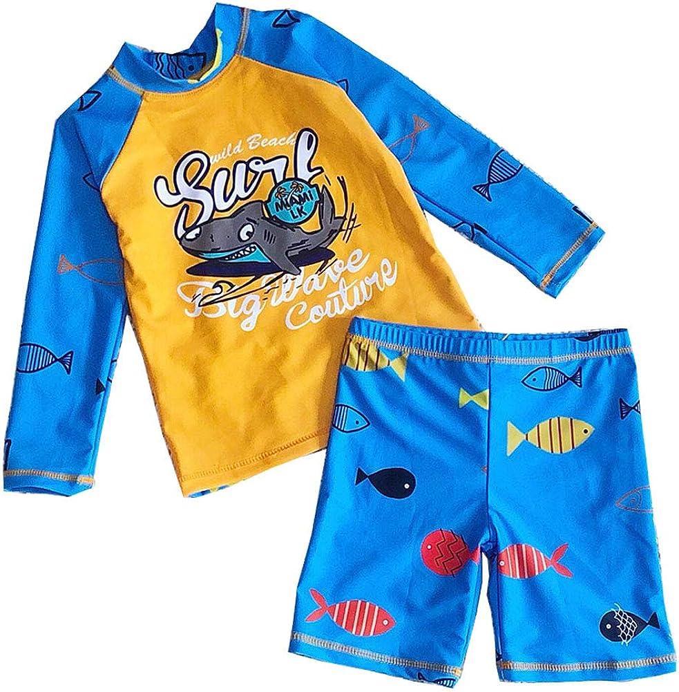 Boys Two 5 popular Piece Swimsuit UPF 50+ Swimwear Protection Kid Bargain Sun Sets