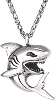 UMtrade Men Shark Pendant Necklace Sea Animal Jewellery