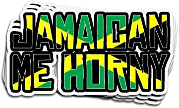 Karis Kita 3 PCs Stickers Jamaican Me Hungry Funny Jamaica Vacation Pride 3×4 Inch Die-Cut Wall Decals for Laptop Window